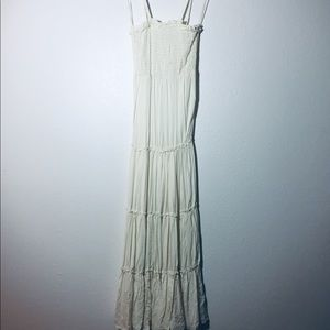 Pins and Needles Cream Tube Tiered Maxi Dress